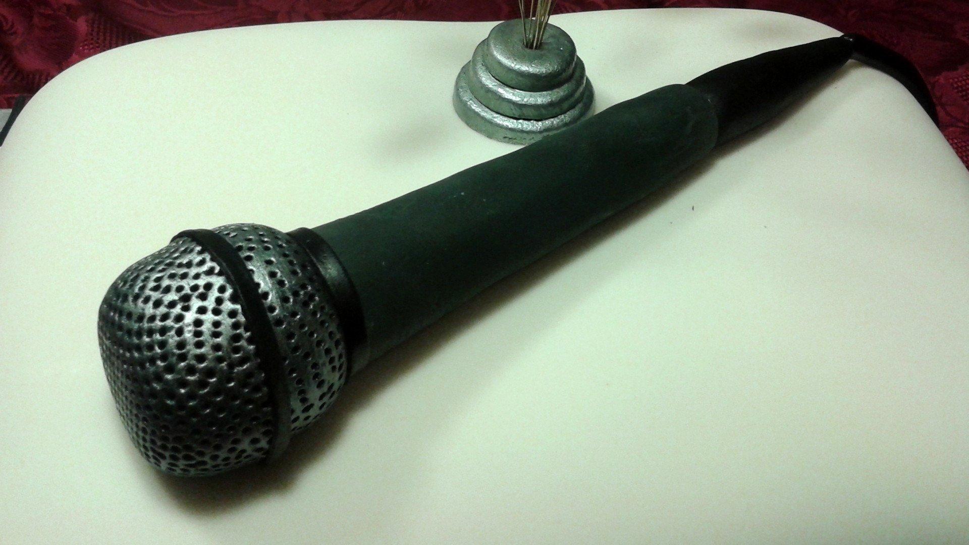 Fondente nero microfono