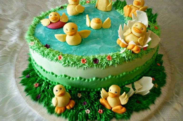 Cake Design Ricette Pasta Di Zucchero : Torta di compleanno con anatre tutorial ItalianCakes