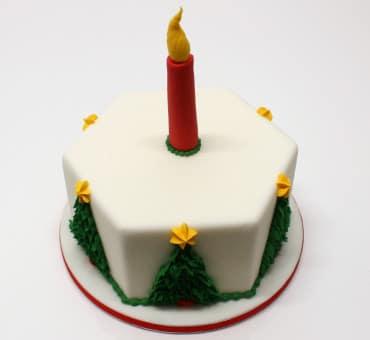 Torta decorata natalizia