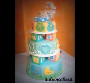 Torta decorata per battesimo