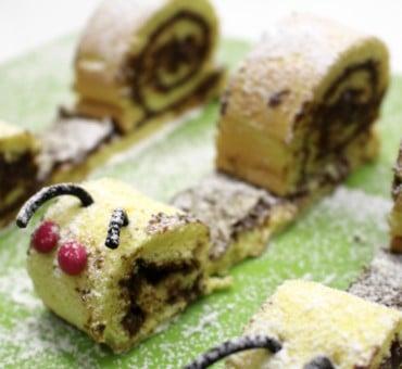 Lumache in biscotto arrotolato