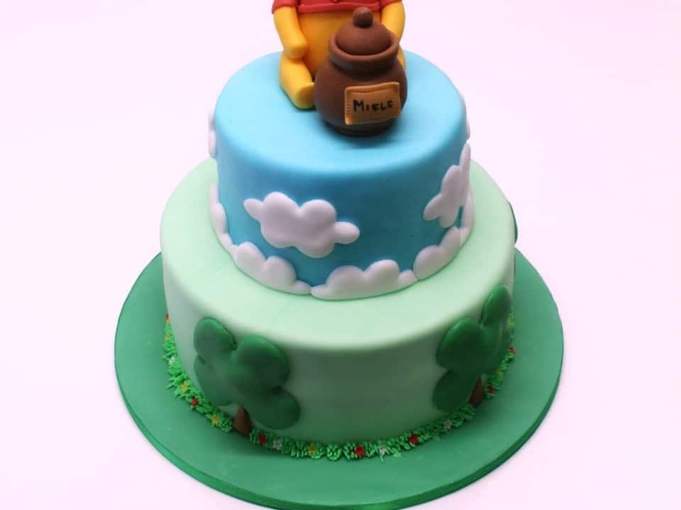 Torta decorata Winnie the Pooh