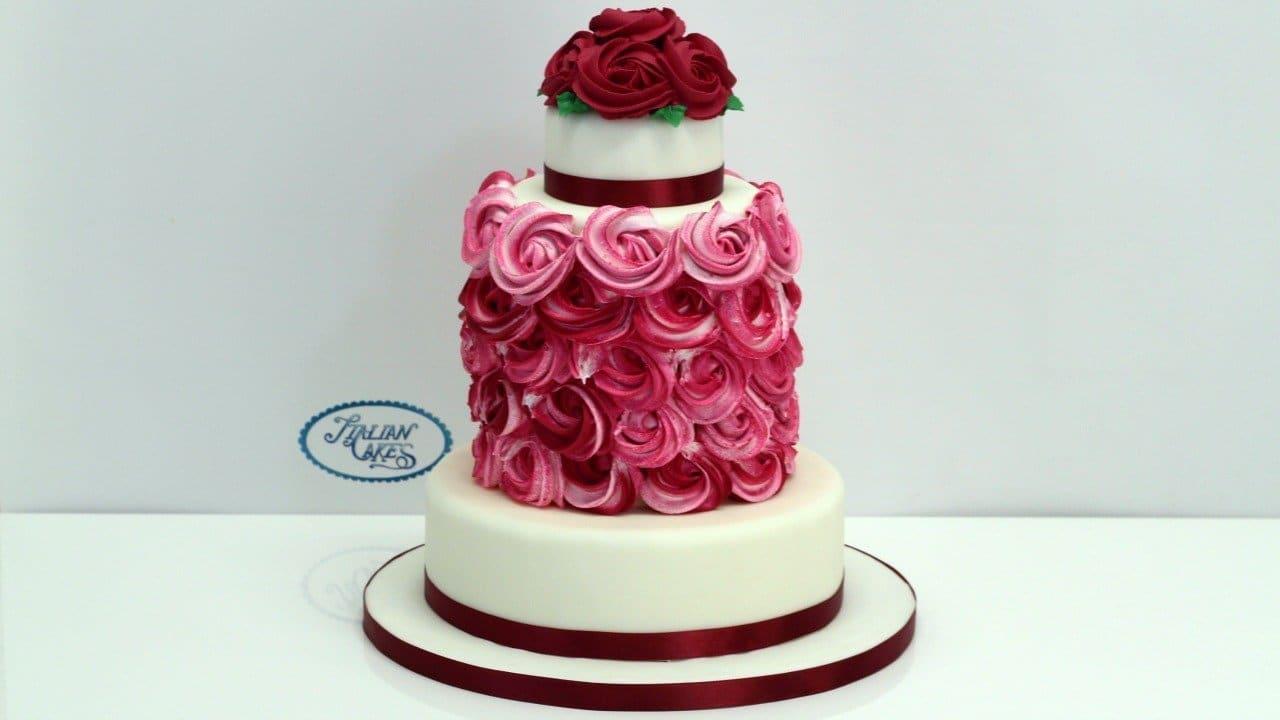 Torta rose in ghiaccia reale