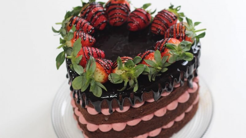 Naked cake di San Valentino