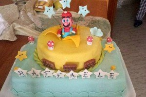 Torta decorata Mario Bros