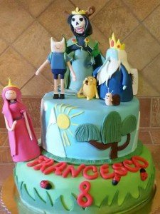 Torta decorata Adventure Time