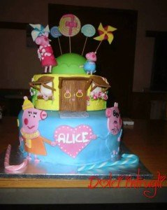 Torta decorata Peppa Pig